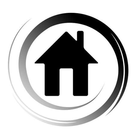 logo informatique: ic�ne Accueil Illustration