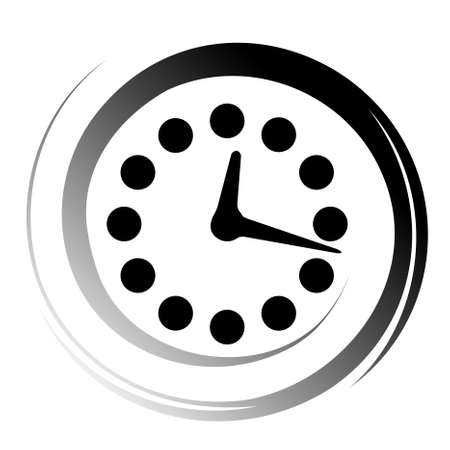 beat the clock: time icon Illustration