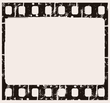perforation texture: grunge filmstrip frame