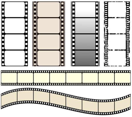 perforation texture: seamless film strips set Illustration
