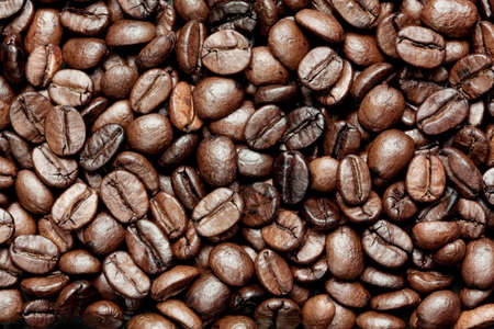 coffe beans: fresh roasted coffe beans background Stock Photo