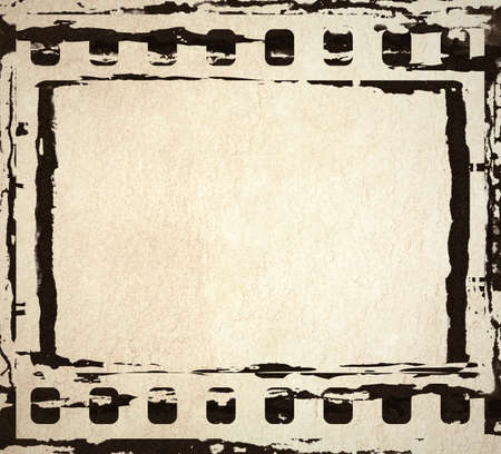 An abstract painted ink film frame photo