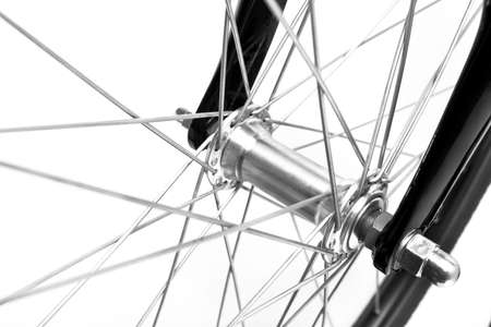 bike race: bike detail on white background