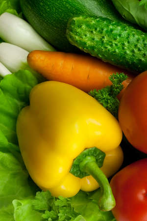 yellow paprika among other fresh vegetables Stock Photo - 7718194