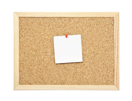 empty message note on cork board  photo