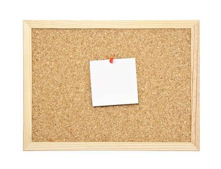 empty message note on cork board Stock Photo - 7847346