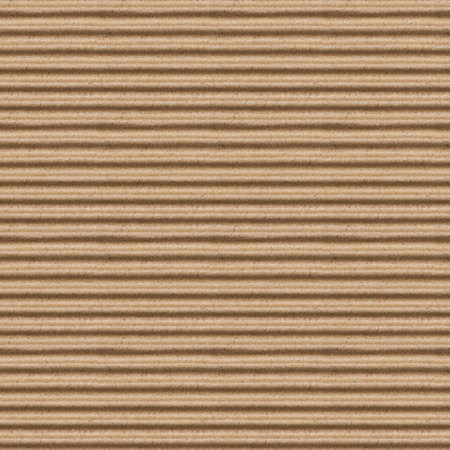 seamless texture of brown corrugate cardboard photo