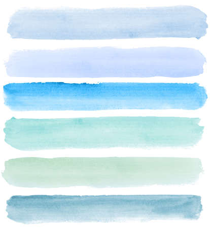 Abstract watercolor hand painted banners Stock Photo - 7945521