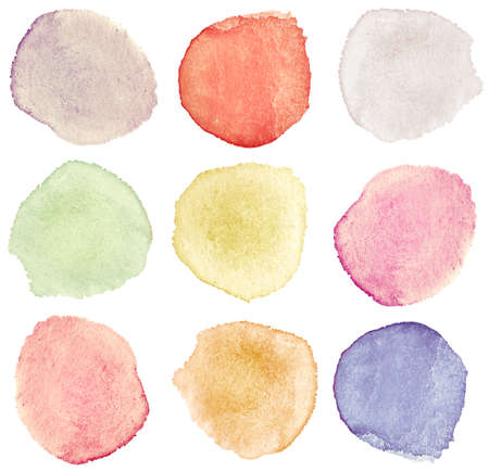 Abstract watercolor hand painted design elements Stock Photo - 8016080