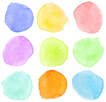 Abstract watercolor hand painted design elements Stock Photo - 8016078
