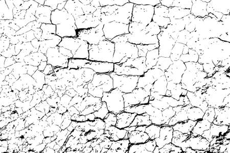 cracked cement: aged wall texture Illustration