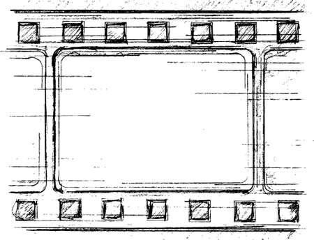 filmnegativ: Grunge-Filmstreifen-frame Illustration