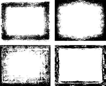 rough: grunge ink frames set