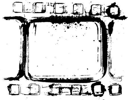 hardcore: grunge filmstrip frame