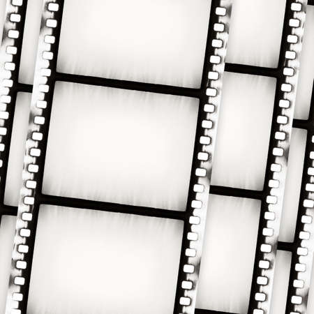 Designed empty film strip background photo