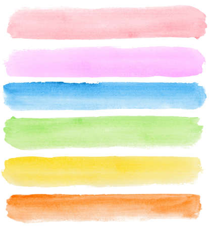 Abstract watercolor hand painted banners Made myself. Stock Photo - 8180543