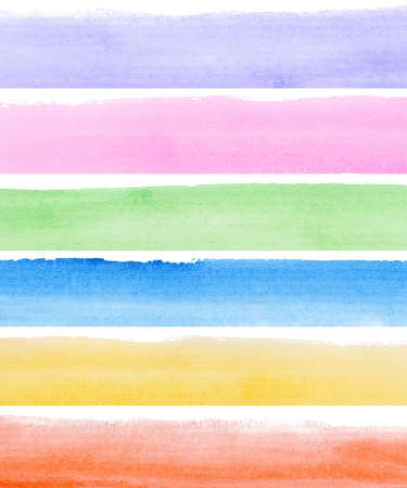 Abstract watercolor hand painted banners Stock Photo - 8256887
