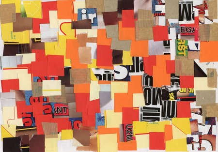 clippings: Collage artesanal hecha de revistas y recortes de papel de color. Hecho yo mismo.