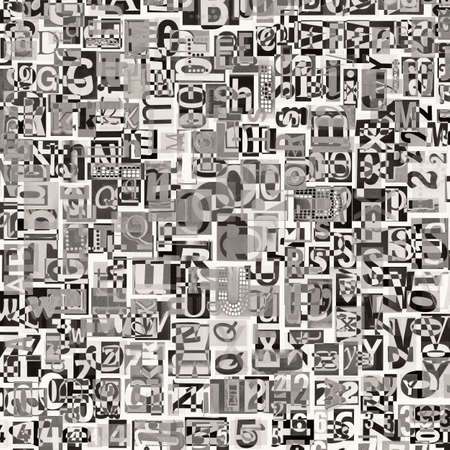 clippings: Dise�o de fondo. Collage digital de recortes de peri�dico.