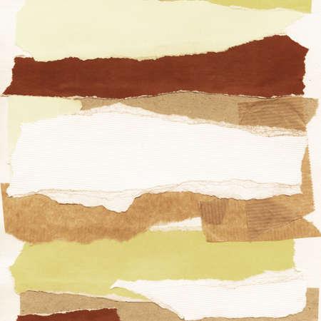 paper craft: Collage artesanal de recortes de papel. Hecho yo mismo.