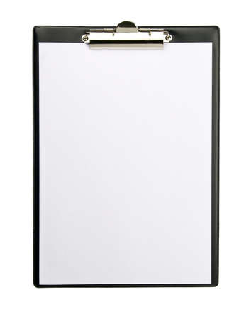clamp: Clipboard isolated on white background  Stock Photo
