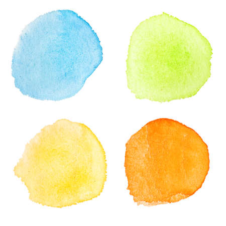 Abstract watercolor hand painted design elements Stock Photo - 8440725