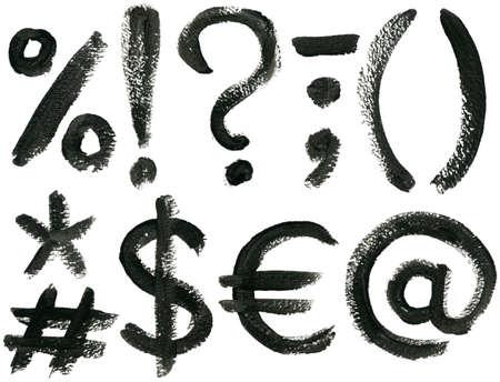 Hand drawn ABC symbols set, isolated. Stock Photo - 8577855