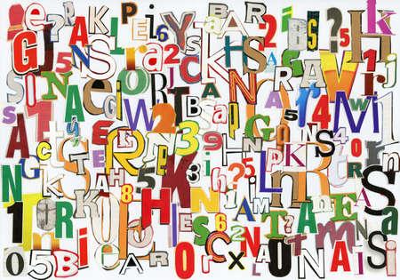 clippings: Collage a mano de recortes de peri�dico ABC. Foto de archivo