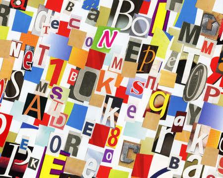 clippings: Collage a mano del diario ABC y recortes de papel revista.