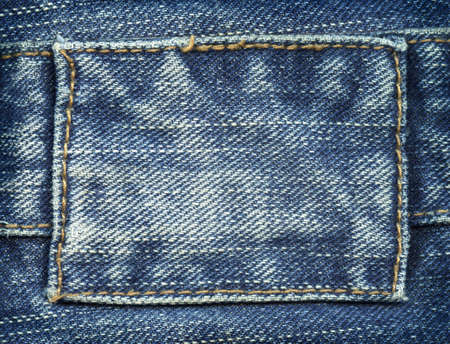 Blank jeans label  photo