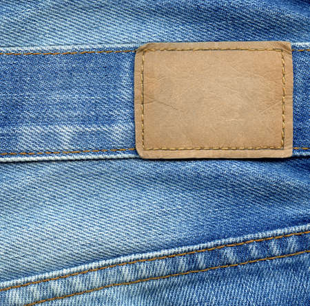 Blank leather jeans label Stock Photo - 8641736