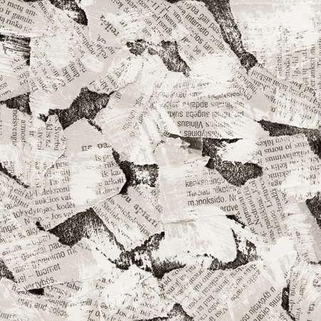 periodicos: Fondo de collage de grunge de peri�dico roto
