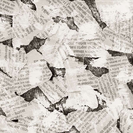 Grunge collage background made of torn newspaper Stock Photo - 8816644
