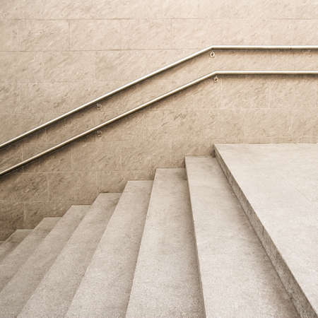 parapet wall: Empty modern building stairway composition Stock Photo
