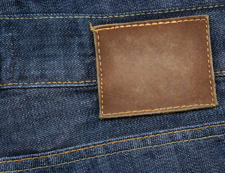 Blank leather jeans label Stock Photo - 9024222