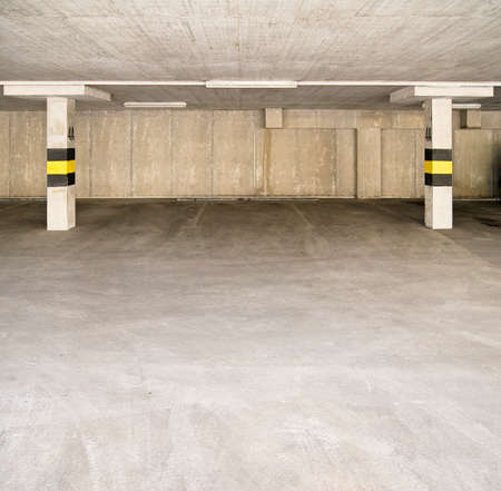 garage background: Empty parking area, can be used as background