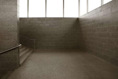 underground passage: empty underground passage stairway