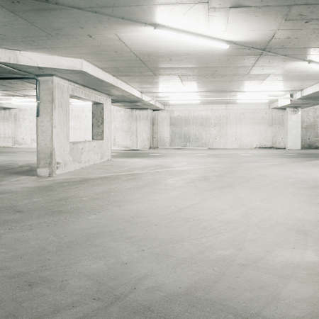 Empty parking area, can be used as background  photo