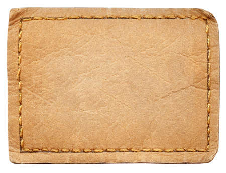 leather label: Blank leather jeans label