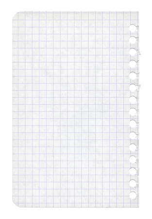 crumpled: torn workbook page paper texture Stock Photo