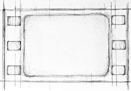 Film strip sketch on paper. Made myself. photo
