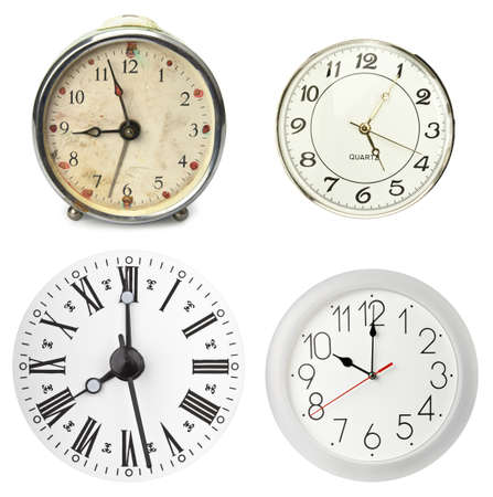 Various clocks, isolated on white Stock Photo - 9261170