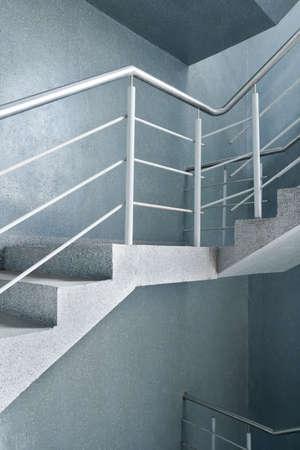 Modern building interior. Empty stairway. Stock Photo - 9261166