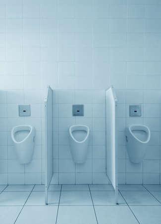 empty bowl: Clean public men toilet room, wc