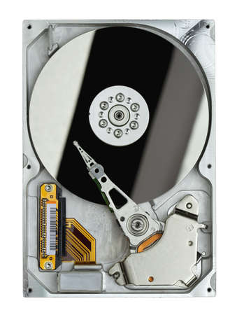 Hard disk drive isolated on white background photo