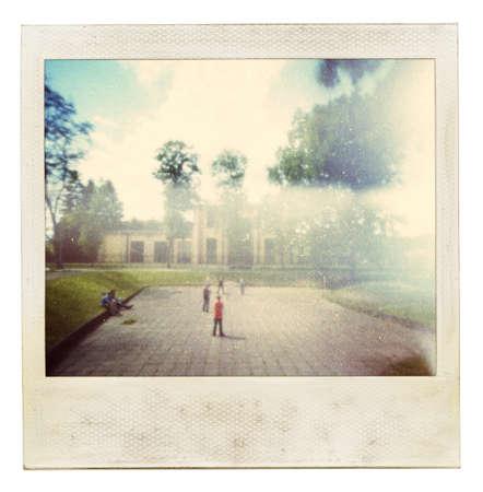 Conçu vintage photo instantanée. Utilisé ma photo originale.