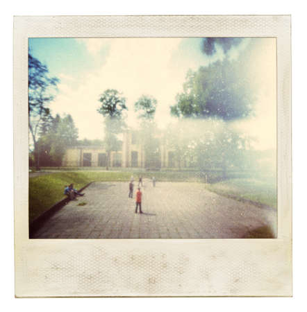 old photographs: Designed vintage instant photo. Used my original photo.