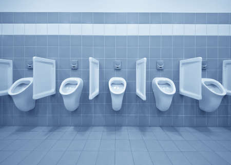 Clean public men toilet room, wc Stock Photo - 9505432