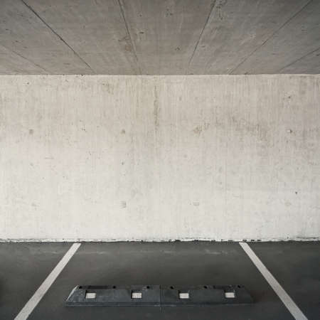 Empty parking lot area, can be used as urban background photo