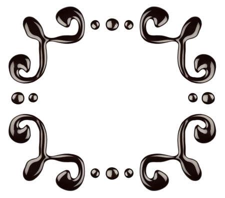 Chocolate frame, isolated on white background Stock Photo - 9702726